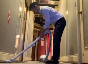 朝イチの掃除話しを夜に話す、ただそれだけのお話。